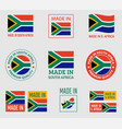 made in south africa labels set republic south vector image