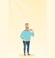 man measuring waist vector image vector image