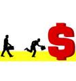 man to money vector image