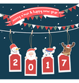 Merry Christmas greeting card 2017 vector image vector image