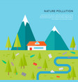 nature pollution concept in flat design vector image vector image