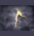 night background with thunderbolt vector image