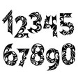 numbers symbol set vector image vector image