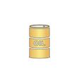 Oil barrels computer symbol vector image