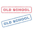 old school textile stamps vector image vector image