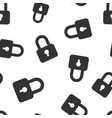 padlock icon seamless pattern background business vector image vector image