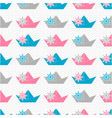 Paper boat pattern vector image vector image