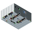 People Waiting Baggage Isometric vector image vector image