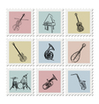 Postage stamp instruments vector | Price: 1 Credit (USD $1)