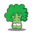 praying broccoli chracter cartoon style vector image