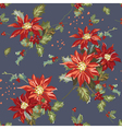 Retro Christmas Seamless Background vector image