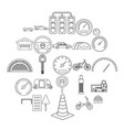 salvatory icons set outline style vector image vector image