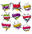 set hand drawn effects comic speech bubbles vector image vector image