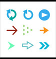 set of colored arrow icons vector image vector image