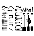 Set of power tools shovel drill hammer icon