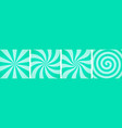 set sweet mint candy abstract vector image vector image