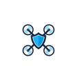 shield drone logo icon design vector image