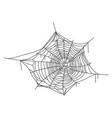 spiderweb black icon scary insect hanging web vector image