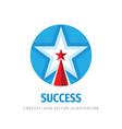 star success logo design elements development vector image vector image