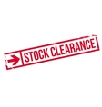 Stock clearance stamp vector image vector image