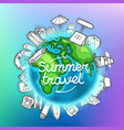 summer travel banner travel concept vector image vector image