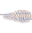 the ancient beauty of australia s daintree vector image vector image