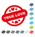 true love stamp seal icon vector image vector image