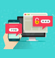 two step authentication flat vector image vector image