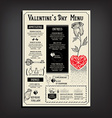 Valentine party invitation restaurant Food flyer vector image vector image