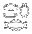 Vintage cartouches isolated vector image
