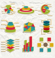vintage infographics set vector image vector image