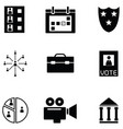 vote icon set vector image