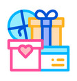 wedding presents for married couple icon vector image vector image