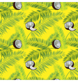 Yellow coconut seamless pattern Coconut palm vector image vector image
