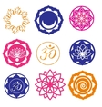 Yoga Labels and Icons vector image vector image