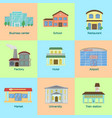 flat style icons set of vector image