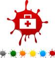 Medical blot vector image