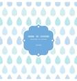 Abstract textile blue rain drops stripes seamless vector image