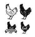 black chicken symbol vector image
