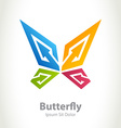 Butterfly beauty logo Abstract design concept with vector image