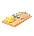 mousetrap isolated vector image