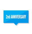 2nd anniversary price tag vector image