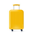 3d sunny yellow summer time travel bag vector image