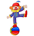 A simple drawing of a playful clown vector image vector image