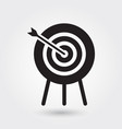 archery icon sports symbol modern simple glyph vector image