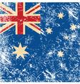 Australia retro flag vector image