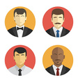avatars men in suits different nationalities vector image