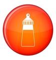Baby milk bottle icon flat style vector image vector image