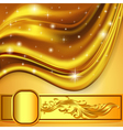 background fabric satin gold ornament vector image vector image