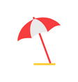 beach umbrella emblem cartoon isolated icon vector image vector image